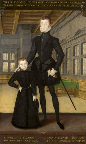 Henry Stewart, Lord Darnley and his brother Charles Stewart, Earl of Lennox