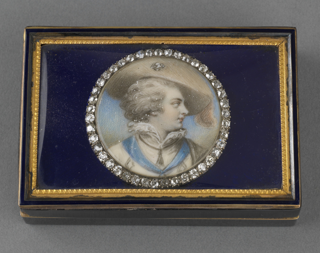 Tortoiseshell and enamel box with inset miniature of George IV (1762-1830) when Prince of Wales