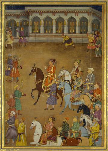 Master: The Padshahnama Item: The Wedding procession of Prince Dara-Shikoh (12 February 1633)