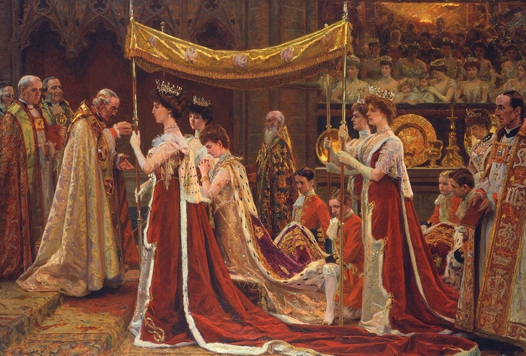 The Anointing of Queen Alexandra at the Coronation of King Edward VII