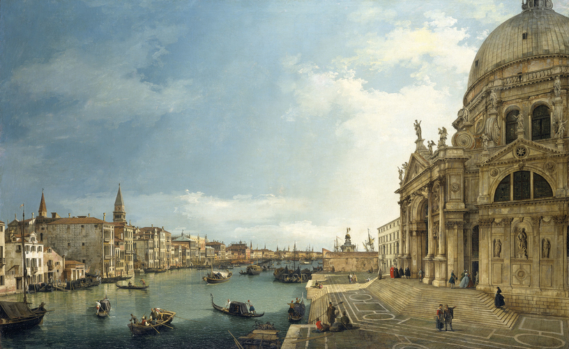 The Grand Canal with Santa Maria della Salute looking East towards the Bacino