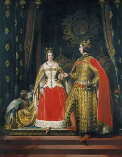 Queen Victoria and Prince Albert at the Bal Costume of 12 May 1842