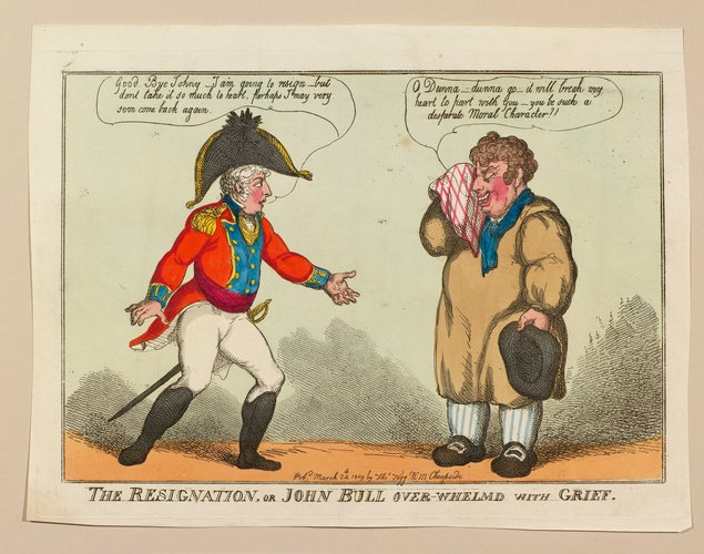 The resignation, or John Bull overwhelmd with grief