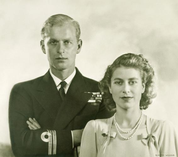 Princess Elizabeth and Lieutenant Philip Mountbatten, R. N. Engagement photograph, 1947 July