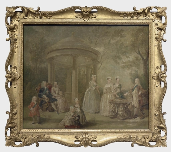 Frame for RCIN 401358, Hogarth, The Family of George II