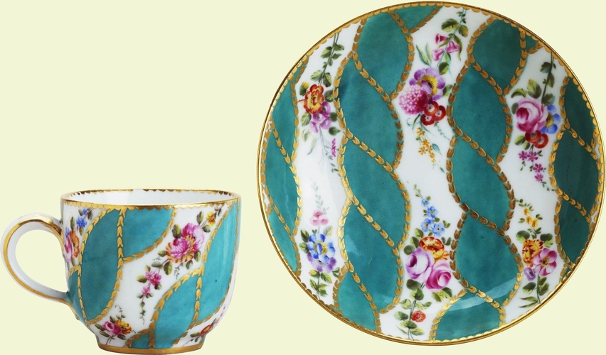 Gobelet Bouillard (part of a tray and tea service)