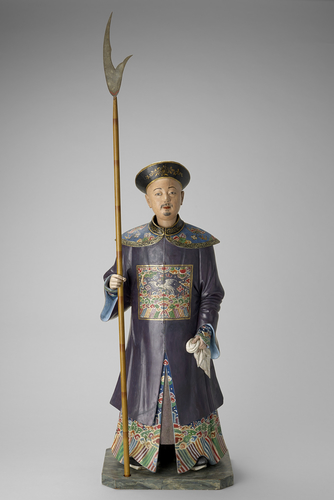 Clay figure of a standing Chinese man
