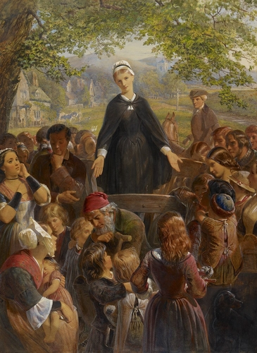 Dinah Morris preaching on the common