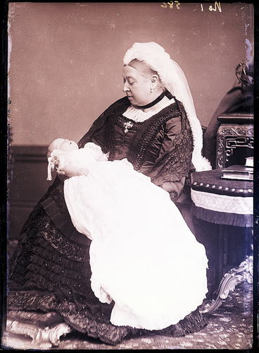 Queen Victoria with Alexander, Marquess of Carisbrooke, when a baby [Alexander Bassano Collection]