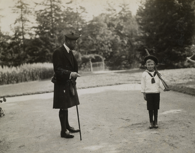 Unknown Person - King George V (1865-1936) and Prince John (1905-19)