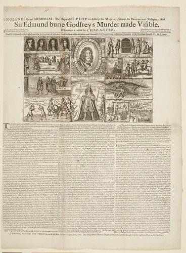 Master: 17th-century pamphlets. Item: England's grand memorial : the unparallel'd plot to destroy His Majesty, subvert the Protestant religion : and Sir Edmundburie Godfrey's murder made visible :