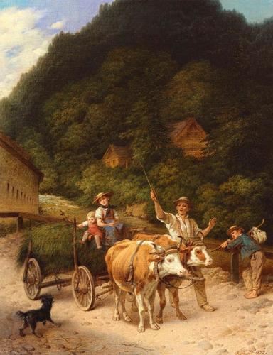 The Bullock-Cart, near Lichtenthal, Baden-Baden