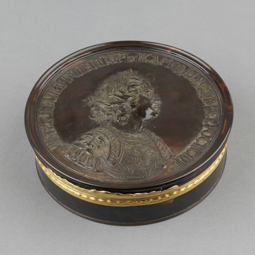 Box with profile portrait of Peter the Great (1672-1725)