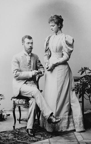 Nicholas II, Emperor of Russia, when Tsesarevich and Alexandra Feodorovna, Empress of Russia, when Princess Alix of Hesse