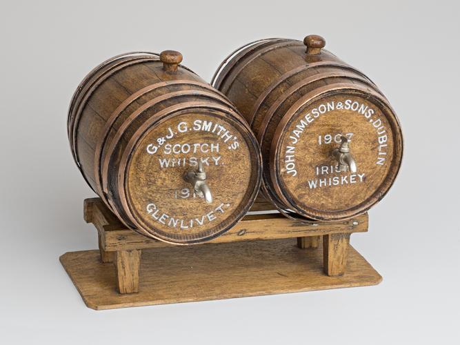 Wooden casks of whisky