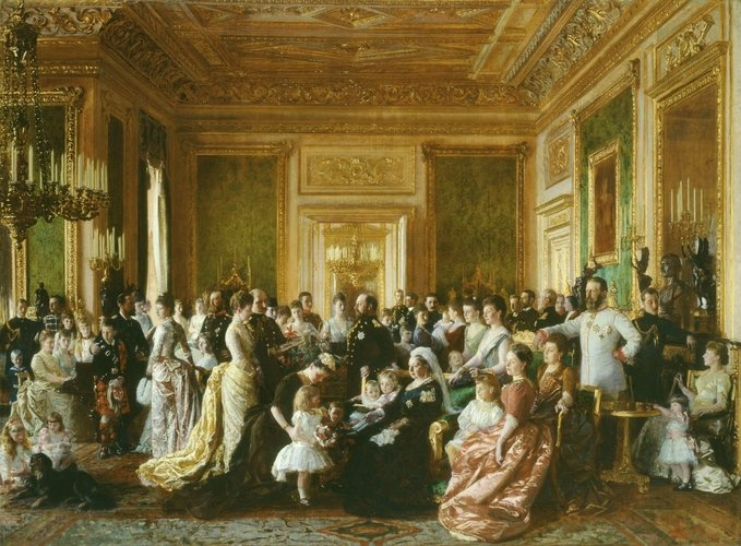 Queen Victoria /& Price Albert In Windsor Castle Painting Real Canvas Art Print