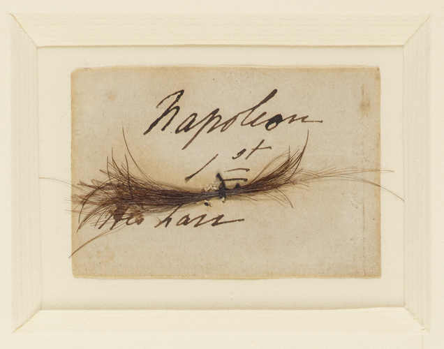 Master: Relics of Napoleon Item: A lock of Napoleon Bonaparte's hair