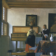Detail from Vermeer's Music Lesson