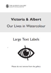 Cover of the large text document for Victoria and Albert: Life in Watercolour