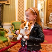 A child in Buckingham Palace