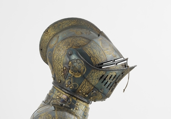 Close helmet from armour garniture of Henry, Prince of Wales (RCIN 72831.o)