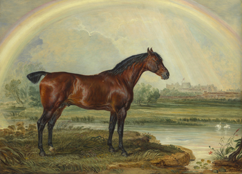 Ward was a successful animal painter who gives his horses a nervous, highly-strung character often supported by an intense and dramatic landscape background. Ward was appointed Painter and Engraver in Mezzotint to the Prince of Wales in 1794 and executed