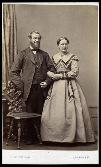 William Brown and his wife Eliza Patterson. Cartes de Visite, Balmoral