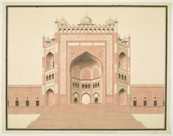 Buland Darwaza, Fatehpur Sikri, near Agra (c.1575). Elevation. Watermarked 1805.