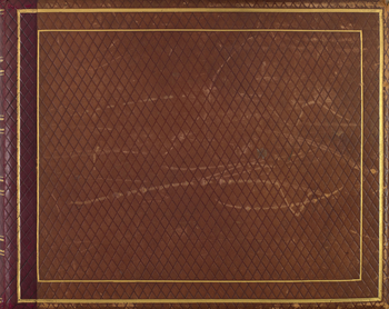 Light brown leather album with gold detailing containing photographs of the Russian Imperial family, members of the court and St Petersburg in the 1870s. Most of the photographs are group or individual portraits of Alexander II, Emperor of Russia and his