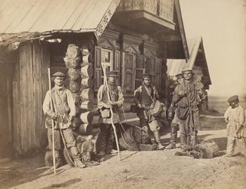 Russian? Bear tamers. [Box: Early Photographs 2]
