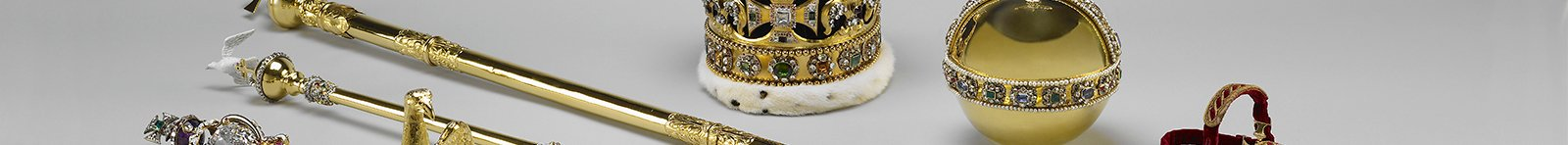 Assorted regalia from the Crown Jewels