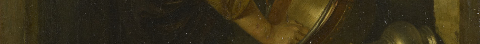crop of washer woman's hands and bucket