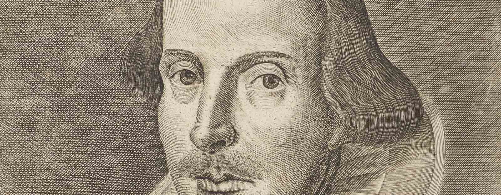 Engraving of Shakespeare's head