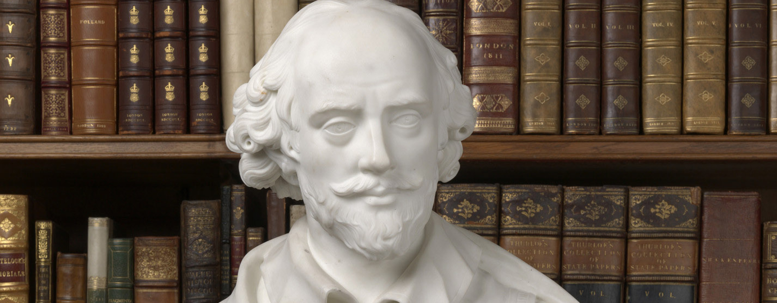 White bust of Shakespeare in Royal Library