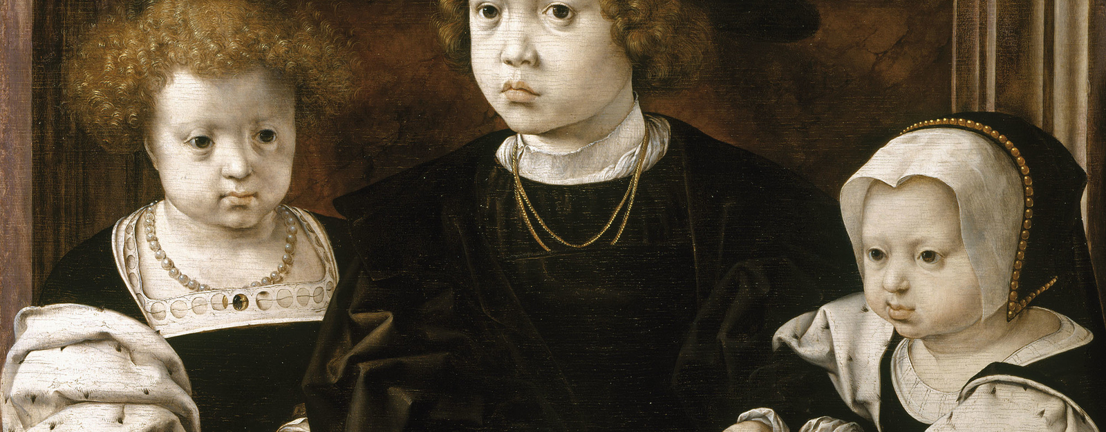 On 19 January 1526 Isabella of Habsburg, Queen of Denmark and sister of the Emperor Charles V, died, leaving behind her three children: John, aged 7; Dorothea, aged 5; and Christina, aged 3. This portrait was painted the same year and was perhaps commissi