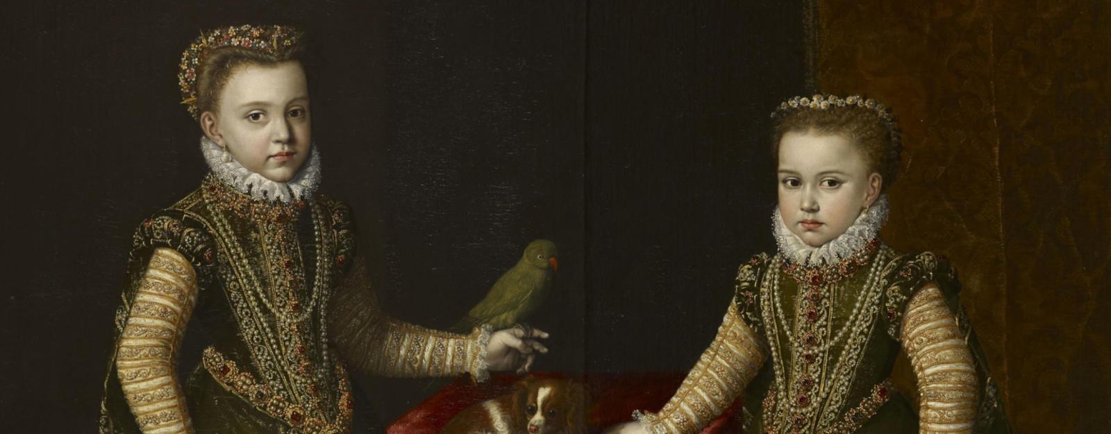 painting of two daughters of Philip II of Spain