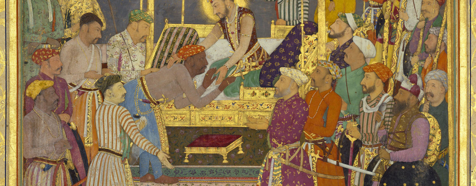 f.46b: submission of Rana Amar Singh (plate 6) 