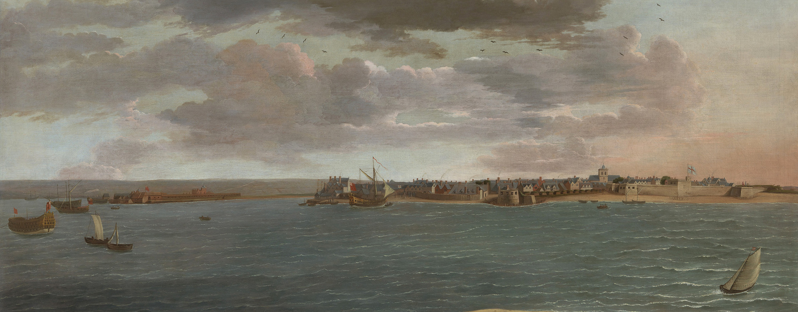Danckerts was a landscape painter born and trained in The Hague who had visited Italy before settling in England during the 1660s and 70s. Records show Danckerts receiving payments from the King in the 1675 and 1679, while the inventories of Charles II an