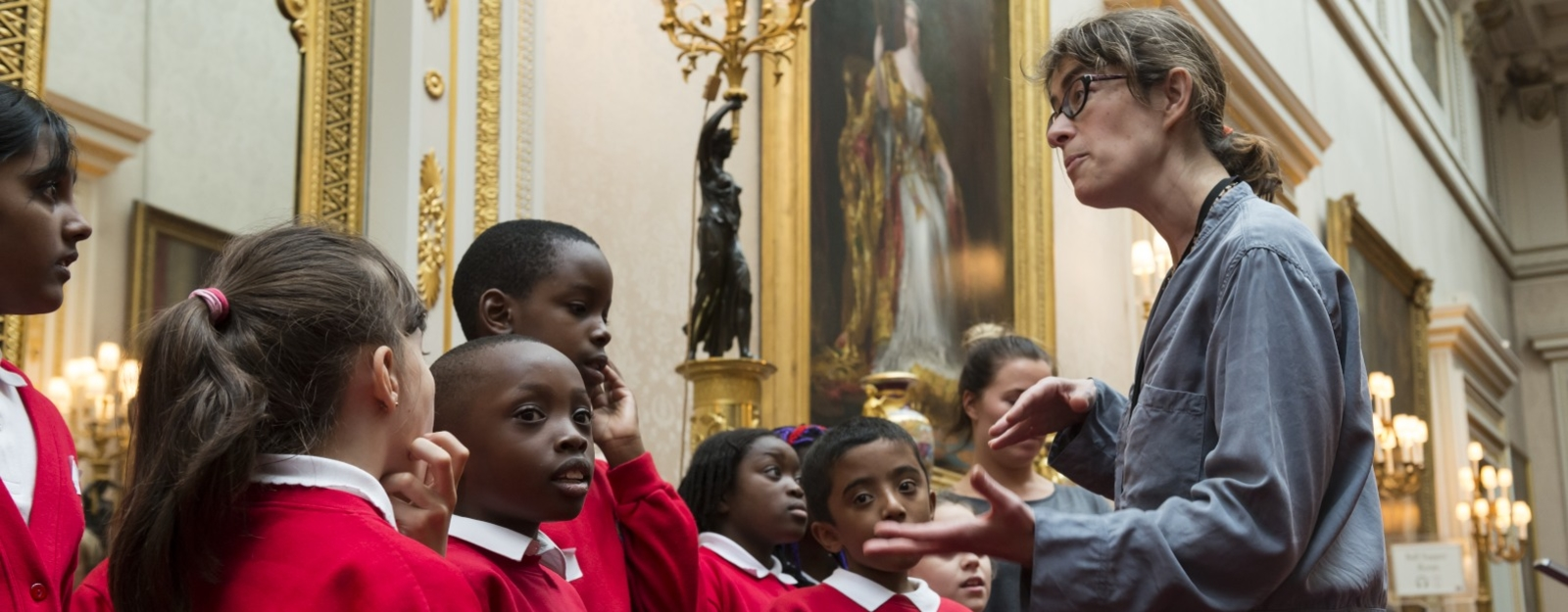 Pupils visit the Picture Gallery, Buckingham Palace