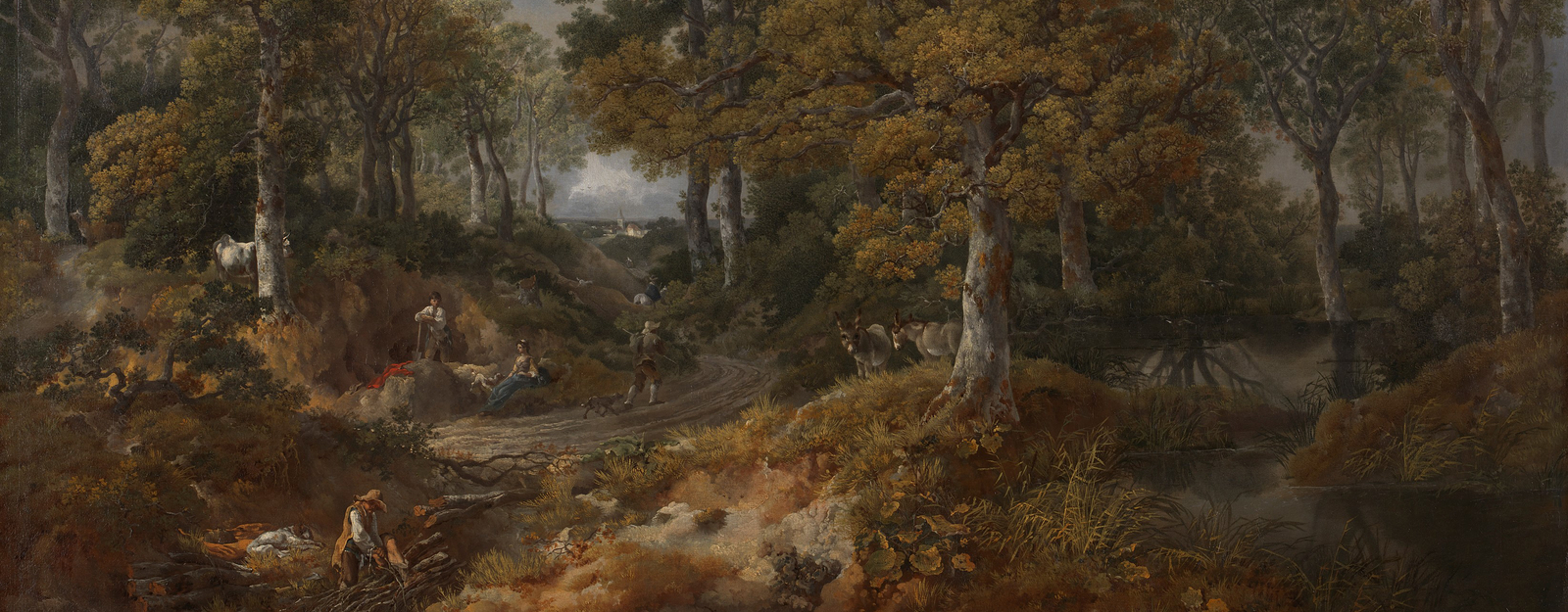 Detail from Gainsborough's 'Cornard Wood', National Gallery