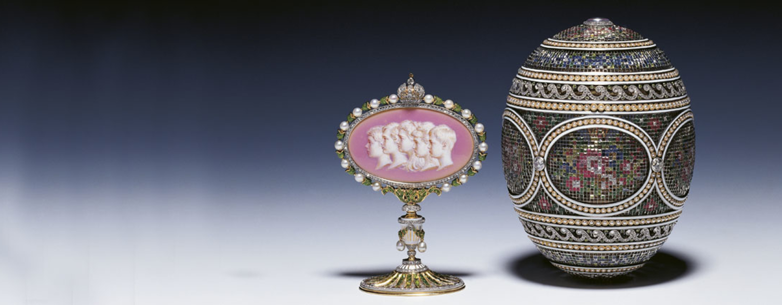 View of Fabergé's Mosaic Egg and Surprise