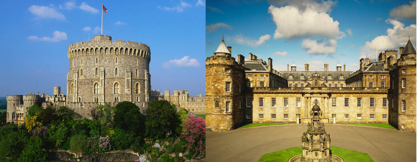 Windsor Castle and the Palace of Holyroodhouse