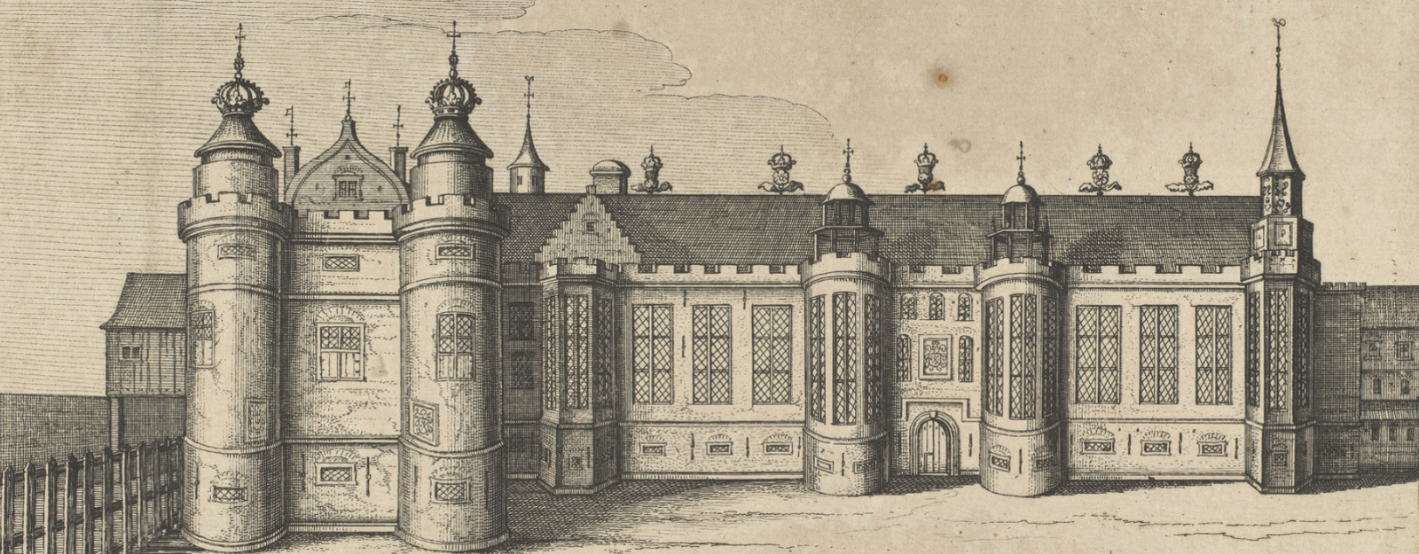 Engraving of James V's palace