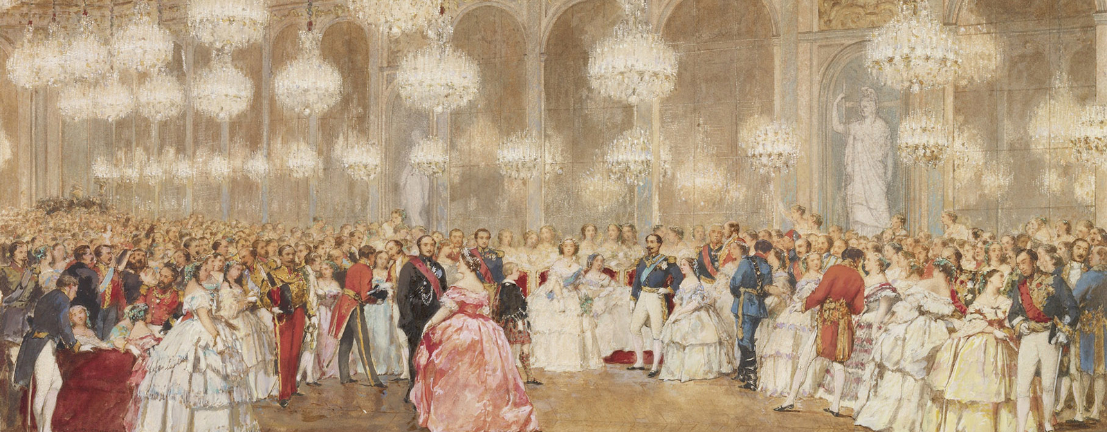 The overture to the ball in the Galerie des Glaces, Versailles