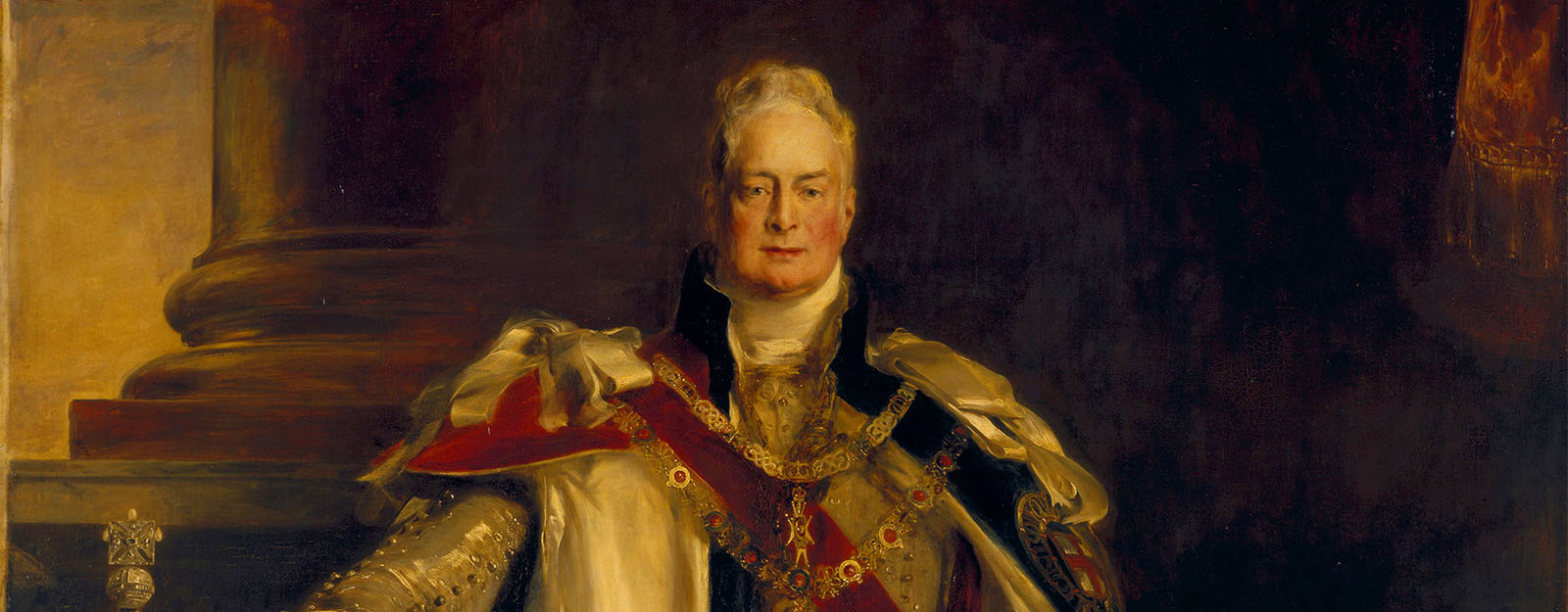 Detail of William IV portrait by WIlkie