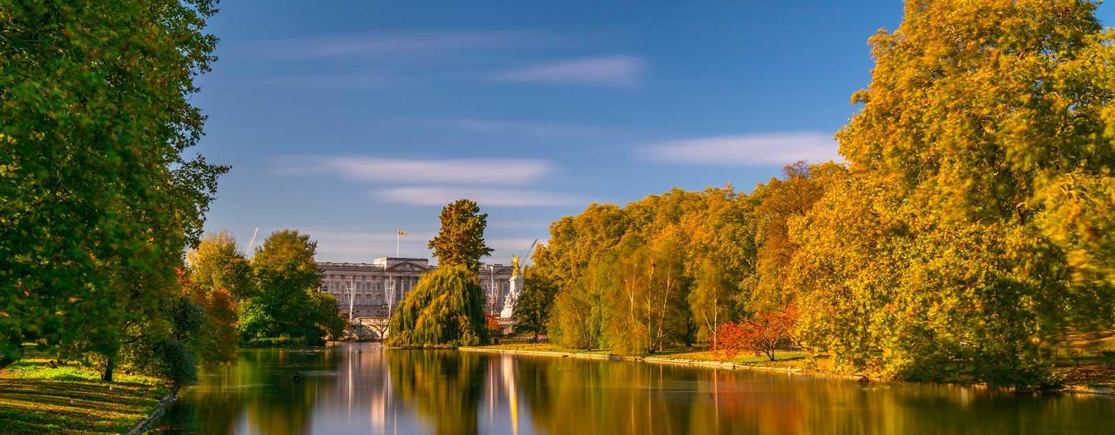Buckingham Palace in autumn