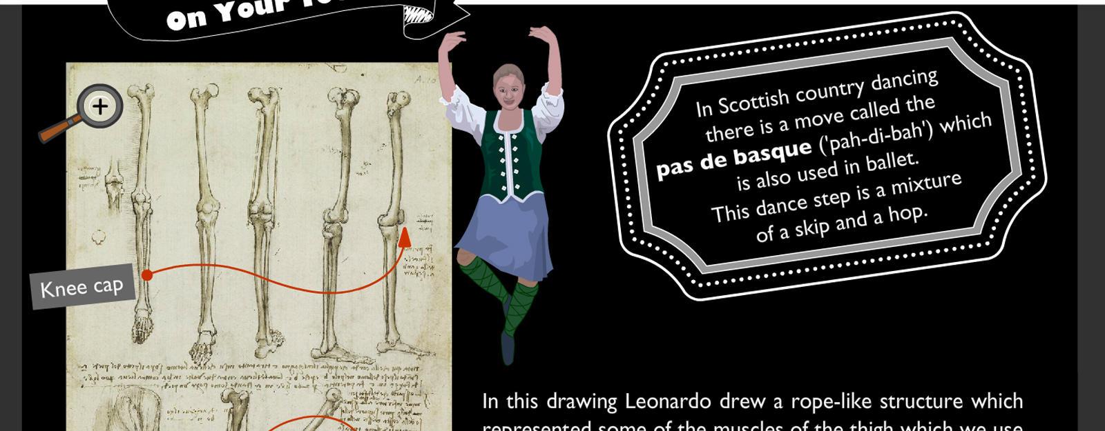 The dancing skeleton: Children's activity banner