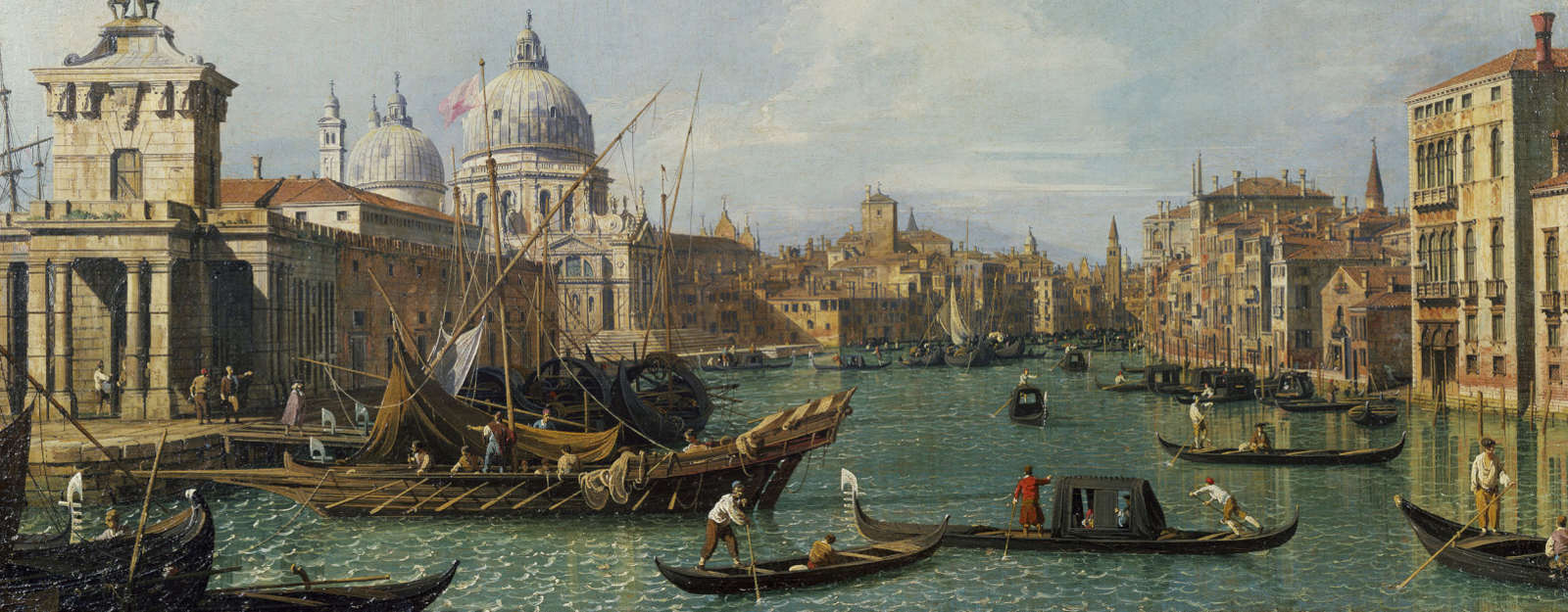 Canaletto's The Mouth of the Grand Canal looking West towards the Carità