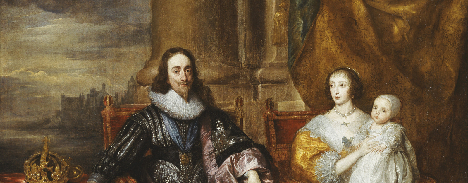 Portrait of Charles I, Henrietta Maria and two children by Sir Anthony Van Dyck