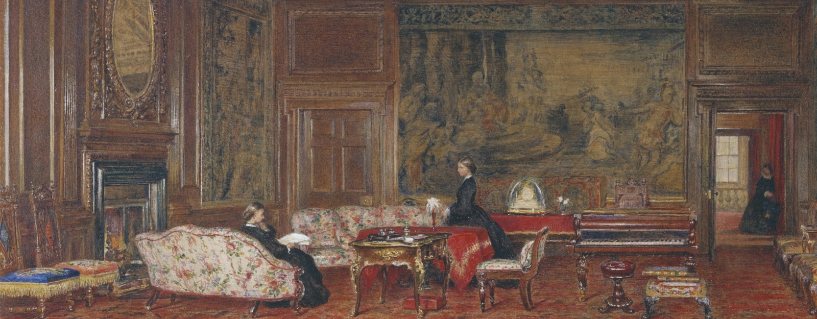 Watercolour of Victoria's Evening Drawing Room at the Palace of Holyroodhouse
